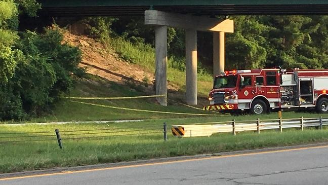 Deputies on scene at I-277 due to person jumping off bridge over