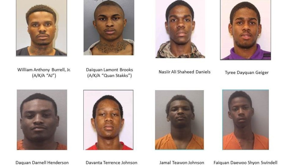 Eight indicted in gang-related crimes in multiple Midlands counties