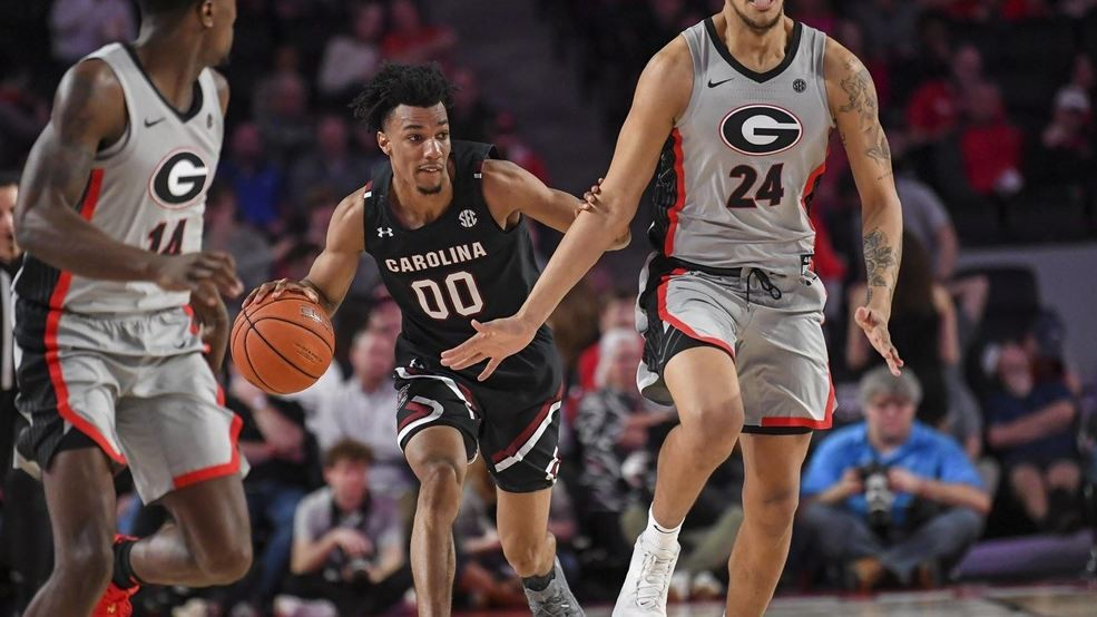 South Carolina's sophomore swingman, A.J. Lawson had a stellar showing in his team's double-digit victory over Georgia. (Photo: USA Today, via Mitchell Brown's article from WACH Fox 57.)
