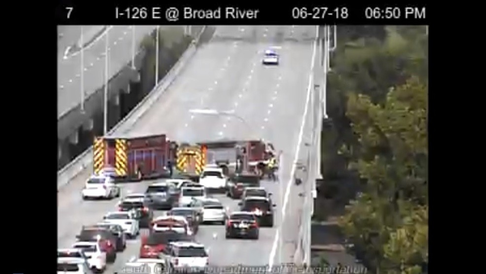 Accident shutting down lanes on I-126 coming into Columbia